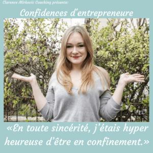 «En toute sincérité, j'étais hyper heureuse d'être en confinement.» Sarah François, fondatrice de La Vraie Dose