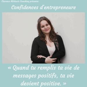 «Quand tu remplis ta vie de messages positifs, ta vie devient positive.» – Aline Bartoli, fondatrice de The Bboost